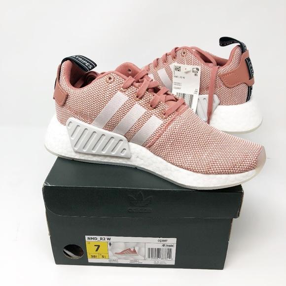 le adidas nwt nmd r2 scarpe rosa dimensioni 7 nuovi in scatola poshmark